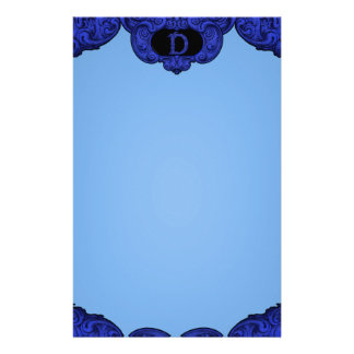 D - The Falck Alphabet Blue Stationery Paper