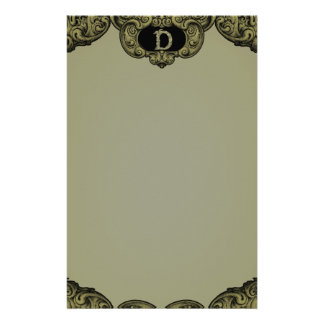 D - The Falck Alphabet Golden Customized Stationery
