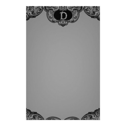 D - The Falck Alphabet (Silvery) Stationery Paper