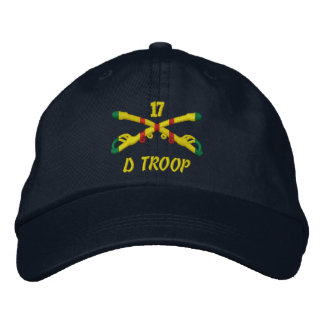 D Troop 17th Cavalry Embroidered Hat