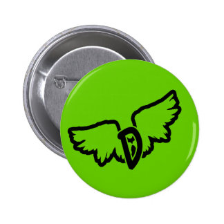 D-wings Green 6 Cm Round Badge