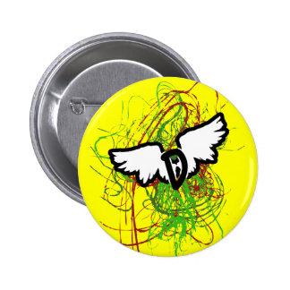 D-Wings Swirl 6 Cm Round Badge