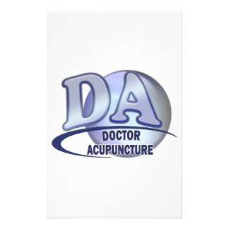 DA ACRONYM LOGO DOCTOR OF ACUPUNCTURE PERSONALIZED STATIONERY