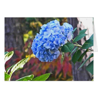 DA- Blue Hydrangea Thinking of You Card