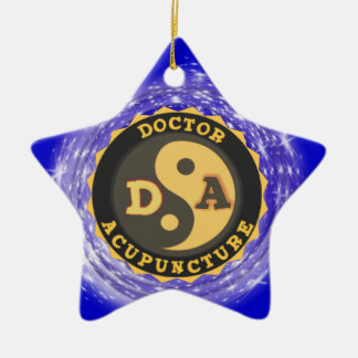 DA DOCTOR OF ACCUPUNCTURE LOGO CERAMIC ORNAMENT