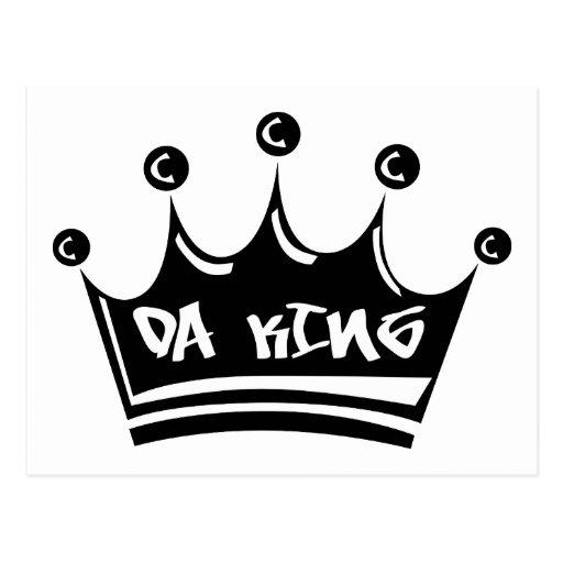 Stencil King Crown: Da King Postcards