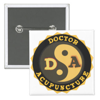 DA LOGO YIN YANG LOTUS FLOWER DOCTOR ACUPUNCTURE 15 CM SQUARE BADGE