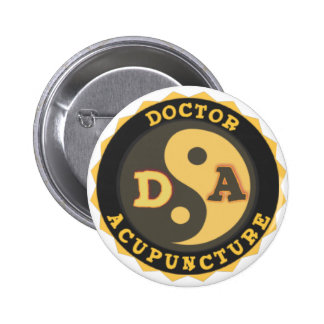 DA LOGO YIN YANG LOTUS FLOWER DOCTOR ACUPUNCTURE 6 CM ROUND BADGE