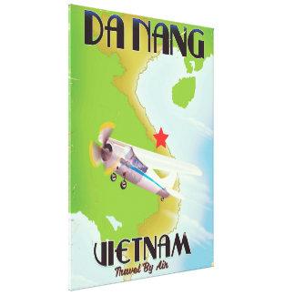 Da Nang Vietnam vintage travel poster Canvas Print
