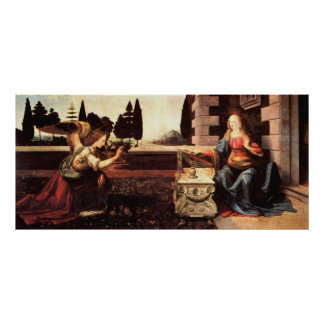 Da Vinci, Leonardo - The Annunciation Poster