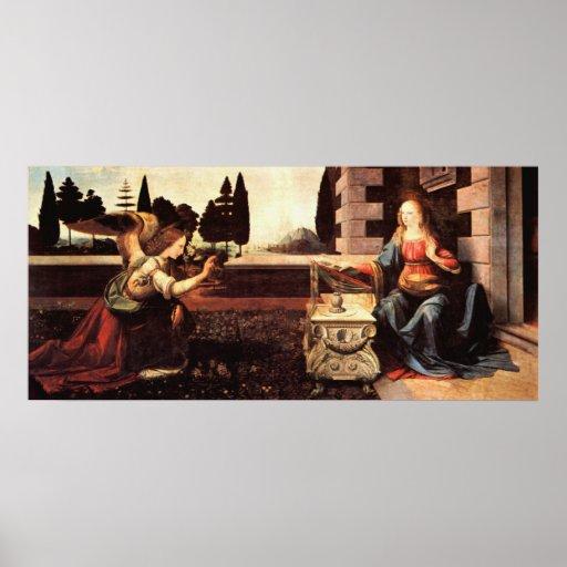 Da Vinci, Leonardo - The Annunciation Poster