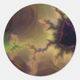 Da Vinci  Mandelbrot Zoom Classic Round Sticker