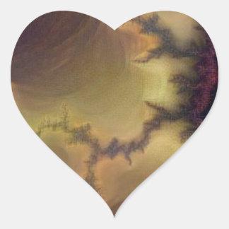 Da Vinci  Mandelbrot Zoom Heart Sticker