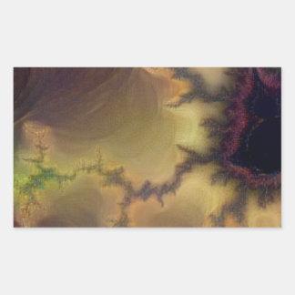 Da Vinci  Mandelbrot Zoom Rectangular Sticker