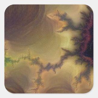 Da Vinci  Mandelbrot Zoom Square Sticker