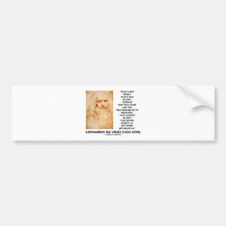 da Vinci Not Riches Lost Virtue Is Our True Good Bumper Stickers