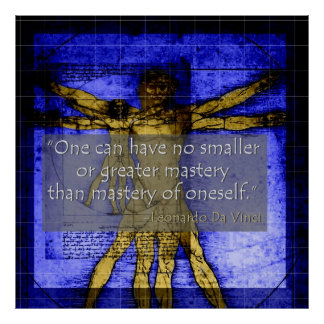 Da Vinci Poster about Mastery of oneself