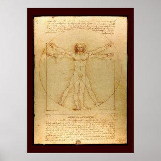 Da Vinci s Cosmic Man Poster