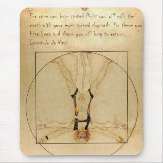 da Vinci Skydiving Mouse Pad