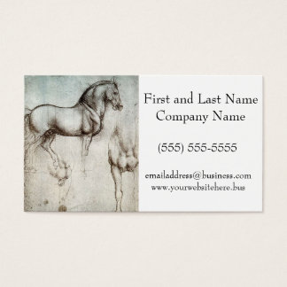 Da Vinci Study of a Horse Pencil Drawing Sketch Business Card
