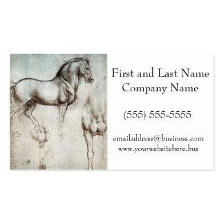 Da Vinci Study of a Horse Pencil Drawing Sketch Pack Of Standard Business Cards
