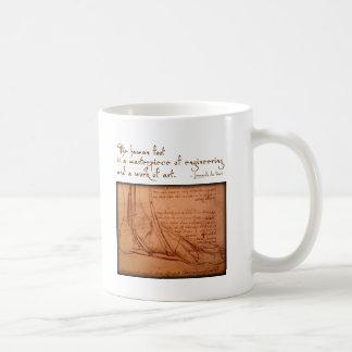 "da Vinci: ""The human foot is..."" Coffee Mug"