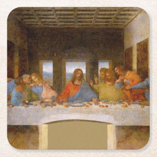 Da Vinci The Last Supper Square Paper Coaster