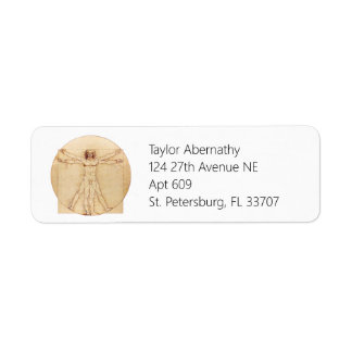 Da Vinci Vitruvian Man Return Address Label