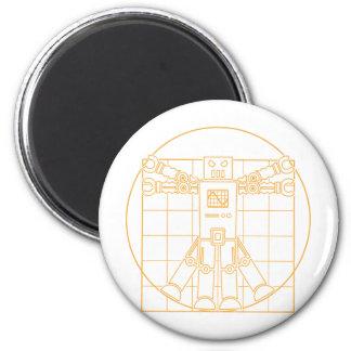 Da Vinci Vitruvian Robot Magnet