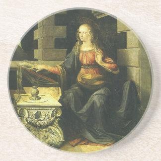 da Vinci's Annunciation, pt1 Beverage Coasters