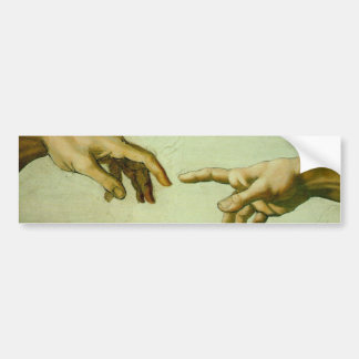 Da Vinci's Creation of Adam Bumper Sticker