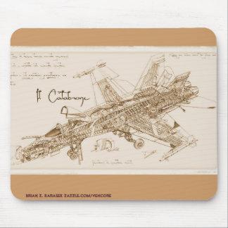 Da Vinci's F/A-18 Hornet Mousepad