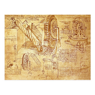 Da Vinci's Notes Postcard