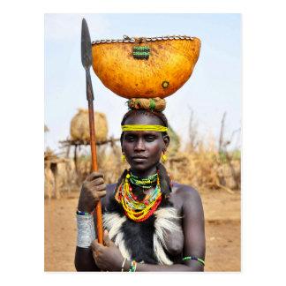 Daasanach Woman Carrying Water on her Head Postcard