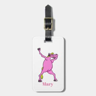 dab pony unicorn all shops luggage tag