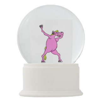 dab pony unicorn all shops snow globe