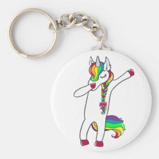 Dab unicorn key ring