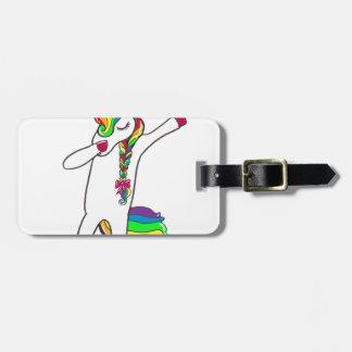 Dab unicorn luggage tag
