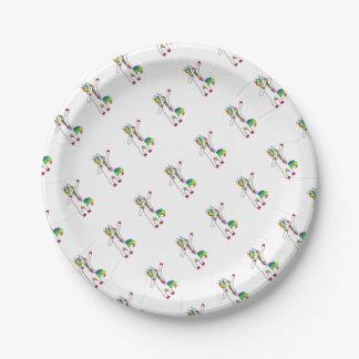 Dab unicorn paper plate