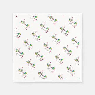 Dab unicorn paper serviettes