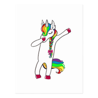 Dab unicorn postcard