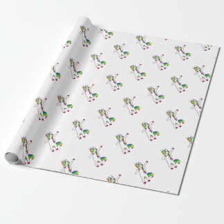 Dab unicorn wrapping paper