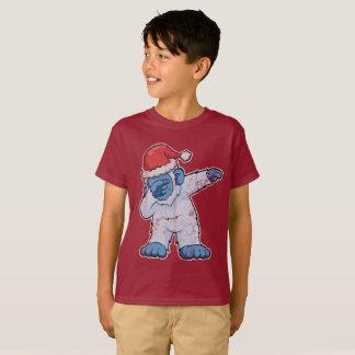Dabbing Abominable Snowman Squatch Bigfoot Santa T-Shirt