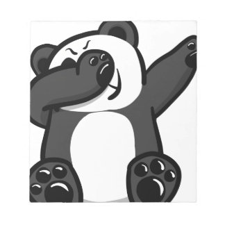 Dabbing Animals Panda Notepad