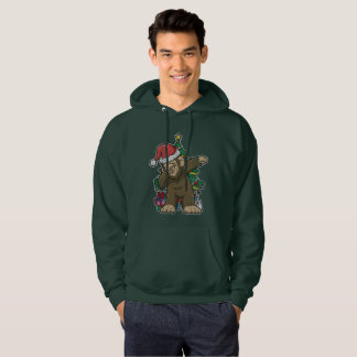 Dabbing Bigfoot Sasquatch Christmas Tree Hoodie