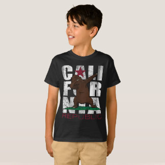 Dabbing California Republic Bear Flag Dab T-Shirt