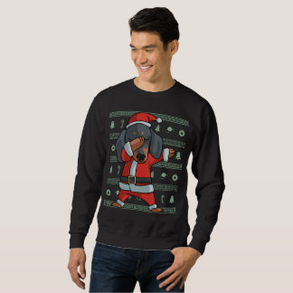 Dabbing dachshund dog T-Shirt Christmas Dab Dance