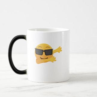 Dabbing Emoji  Funny Birthday Gift  Kids Men Women Magic Mug