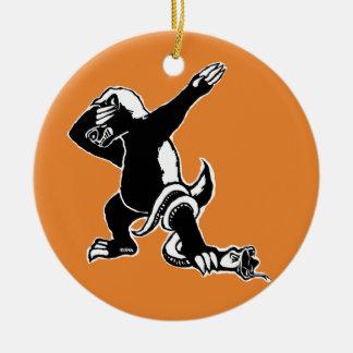 Dabbing Honey badger Ceramic Ornament