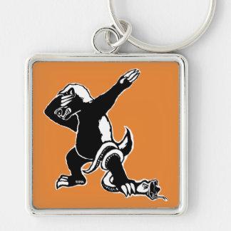 Dabbing Honey badger Key Ring